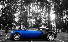 Bugatti Veyron in blue and black Bugatti Veyron, Bugatti Royale, Bugatti Cars, Bugatti Logo, Bugatti Type 57, Bugatti Wallpapers, Car Wallpapers, Wallpaper Backgrounds, Cool Car Pictures
