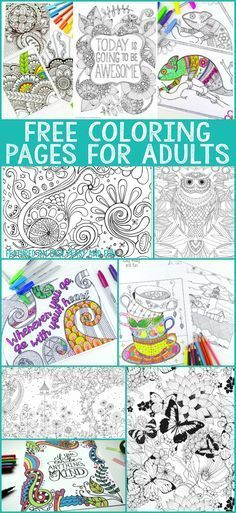 A whole bunch of gorgeous and free coloring pages for adults! As grown ups should have some coloring fun too!