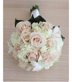 peach sweet avalanche rose hydrangea bouquets