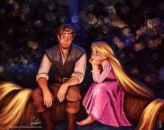 Rapunzel and Eugene - Blueabyss17404 - Tangled
