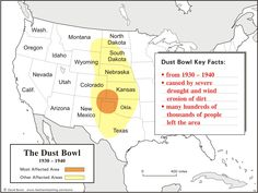 Dust Bowl Map