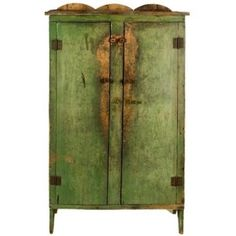 Vintage antique armoire in rustic apple green patina finish Primitive Cabinets, Primitive Furniture, Country Furniture, Ikea Furniture, Antique Furniture, Furniture Stores, Green Furniture, Furniture Design, Furniture Buyers