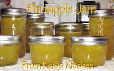 Pineapple Jam  Ingredients Needed  2 fresh ripe pineapples  2 boxes of regular sure jel  6 cups of sugar (measure and set aside until needed)  a pat of butter (this reduces the foaming)  Canning supplies and a Water Bath Canner  Food Processor or some other way of chopping up the pineapples