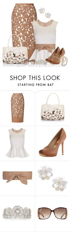 """""""#43 Embroidered Pencil Skirt"""" by lauriereeve ❤ liked on Polyvore featuring Burberry, Nancy Gonzalez, Lipsy, Michael Kors, MANGO, Dolce&Gabbana and Roberto Cavalli"""