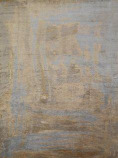 Brushstroke Blue | Modern, Handmade, Tibetan Carpets | New York | Carini Lang