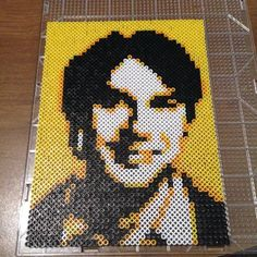 Raj Big Bang Theory perler beads by apricots_1989 - Original design by Pamela Z: http://www.etsy.com/shop/MostFavoriteAunt