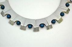 1950's ANTONIO PINEDA Mexico 970 Sterling Silver Link Necklace