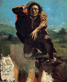 Gustave Courbet >> The Desperate Man (aka The Man Made Mad by Fear)