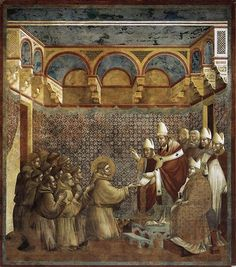 Giotto - Confirmation of the Rule, 1297-1299