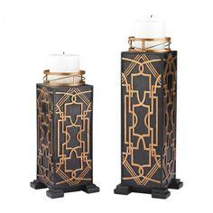 Art Deco Look pair art deco classic pedestal plinth columns tables | pedestal