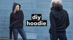 Knitting Patterns Hoodie DIY Hoodie from Scratch! Urban Outfitters Clothes, How To Wear Hoodies, Happy Hoodie, Knitting Patterns, Sewing Patterns, Diy Kleidung, Hoodie Pattern, Clothing Hacks, Sewing For Beginners