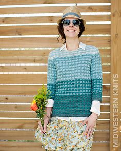 "Mishigami Pullover pattern by Jennifer Beaumont - Mishigami is the Ojibwe word for Lake Michigan, and means ""Big Water""."