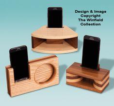 Diy Cell Phone Stand, Wood Phone Holder, Passive Speaker, Loudspeaker Enclosure, Speaker Box Design, Diy Speakers, Woodworking Projects That Sell, Boombox, Wooden Diy