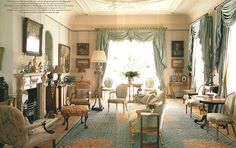 Clarence House - Morning room. Interior design by Robert Kime
