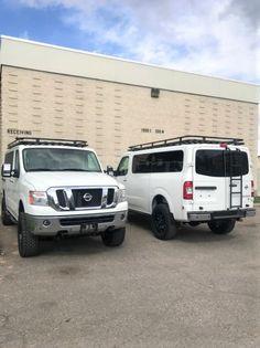 "Nissan NV 3500 6"" lift, 35"" tires, 20"" wheels, Aluminess rack, Advanced rear door ladder Nissan Vans, Nissan 4x4, Ambulance, Ford E Series, Bmw Series, 4x4 Van Conversion, Dog Transport, Van Shelving, 20 Wheels"