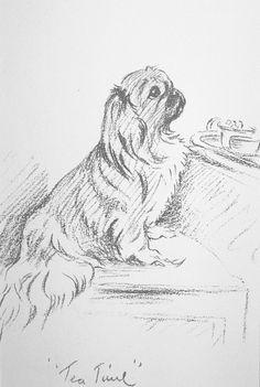 Pencil Art Drawings, Animal Drawings, Easy Drawings, Art Sketches, Pekinese, Dog Drawing Simple, Pekingese Dogs, Dog Silhouette, Dog Paintings
