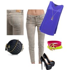 Loving Level 99's cheetah print jeans paired with a bold top & bold accessories.