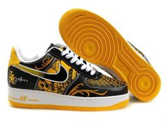 timeless design ce426 efcb8 Air force 1 Low Shoes-Cheap Men s Nike Air force 1 Low Shoes Black Yellow White  Graffiti For Sale from official Nike Shop.