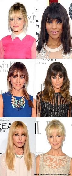 Hairstyles with a fringe.