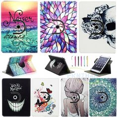 """Slim 10"""" Inch Universal Rotating Stand Case Cover  for 10""""-10.1"""" Inch Tablet PC"""