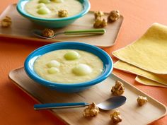 Reserve the cobs to create the broth base for Justin's Chilled Corn Soup that requires just five ingredients.