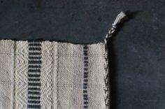 Smoke Sauna handwoven hemp and linen wash cloth - like the twining at the end