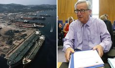 With friends like Brussels, who needs enemies? EU to fine Greece for saving ship builders BRUSSELS bureaucrats are set to fine impoverished Greece a million euros every month in revenge for its Government stepping in to save ship builders' jobs. By NICK GUTTERIDGE PUBLISHED: 02:12, Sun, Jul 24, 2016