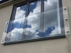 Frameless Glass Juliet balcony in Marlow – wide in low iron toughened and laminated safety glass with Easyclean coating applied free of charge. Glass Balcony Railing, Balcony Railing Design, Balcony Doors, Glass Stairs, Bedroom Balcony, Glass Door, Balcon Juliette, Juliette Balcony, Balustrades