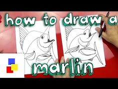 How To Draw A Marlin - art for kids hub