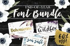 Brush Script Font Bundle by DrawBabyDraw Designs on @creativemarket