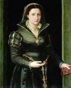 Portrait of Isabella d'Medici by Bronzino