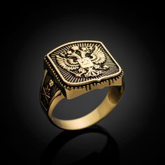 You many think that the higher the carat, the better the jewelry. Not so with for men's gold jewelry. Read more here about which gold to buy for jewelry. Mens Gold Rings, Rings For Men, Double Headed Eagle, Gold Ring Designs, Black Gold Jewelry, Copper Jewelry, The Ring Face, White Gold, Wedding Rings