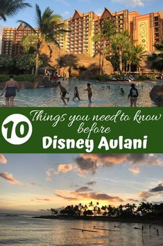 A family trip to Aulani a Disney resort and spa is a spectacular family vacation. After taking our first trip there I have put together a list of things that would be helpful to know before the… Disney Honeymoon, Disney Cruise Tips, Disney Vacation Club, Disney Vacation Planning, Hawaii Vacation, Hawaii Travel, Disney Hawaii Aulani, Vacation Ideas, Disney Resorts