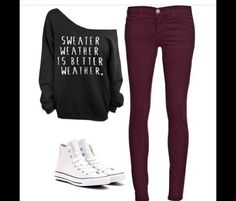 Sweater weather is better weather #outfit #ootd #fashion #clothes #style
