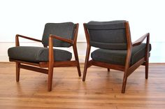 Pair of Jens Risom Lounge Chairs by GalaxieModern on Etsy