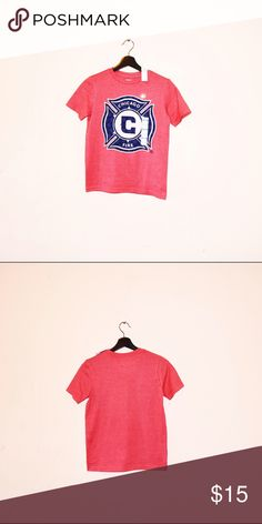 MLS Chicago Fire Shirt NEW Chicago Soccer Team Shirt Shirts & Tops Tees - Short Sleeve