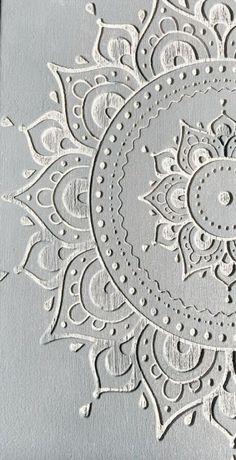 Chalk painted my iphone cover! Grey Wallpaper Iphone, Wallpaper Backgrounds, Iphone Wallpaper Mandala, Boho Backgrounds, Mandala Painting, Mandala Art, Clay Wall Art, Cool Walls, Mandala Design