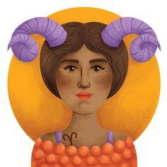 Aries - Zodiac Sign Girls on Behance