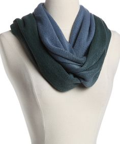 Take a look at this Blue Infinity Scarf by Christian Livingston on #zulily today!