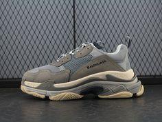 online store c565b 4143a Balenciaga Fall Winter Balenciaga Triple-S Sneaker Fashion Retro  Thick-soled Old Grandpa Sneakers Old Cement Grey Beige 483513 17097508495