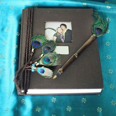 Love the idea of this Message Book. Would be great to insert a picture of us. I also love the Peacock theme.