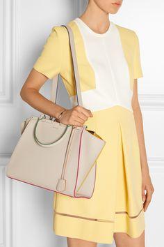 Fendi|3Jours medium textured-leather tote|NET-A-PORTER.COM