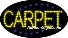 """Animated Carpet LED Sign-ANSAR24171  15""""x27""""x1""""  Animated  8lbs  Indoor use only  Low energy cost: Uses ONLY 10 Watts of power  Expected to last at least 100,000 hrs  Cool and safe to touch, low voltage operation  High visibility, even in daylight  Easy to clean, Easy to install, Slim & Light Weight  Maintenance FREE  1 YEAR Warranty."""