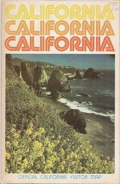 Retro California map