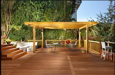 The pergola kits are the easiest and quickest way to build a garden pergola. There are lots of do it yourself pergola kits available to you so that anyone could easily put them together to construct a new structure at their backyard. Diy Pergola, Wood Pergola, Deck With Pergola, Cheap Pergola, Covered Pergola, Pergola Ideas, Patio Decks, Rustic Pergola, Porch Ideas