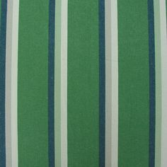 Woven striped green fabric for curtains or blinds