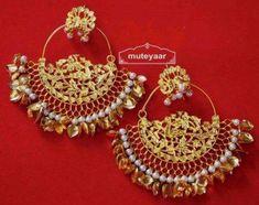 fee104544c6 Gold Plated Traditional Punjabi Jewellery Morewali Earrings Jhumka Muteyaar  - The Oldest Punjabi Online Shopping Store