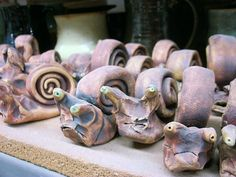 Look out, it's the Invasion of the Handbuilt Snails!
