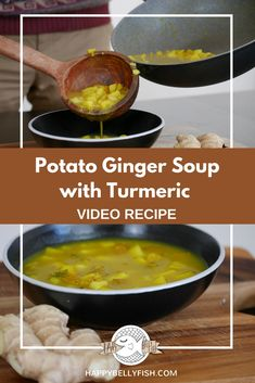 Potato Ginger Soup with Turmeric | Potato Soup Easy Recipe