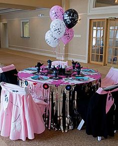 """Sock hop party- Maybe eliminate the whole 50's theme and just do a """"Funky Sock Party""""."""